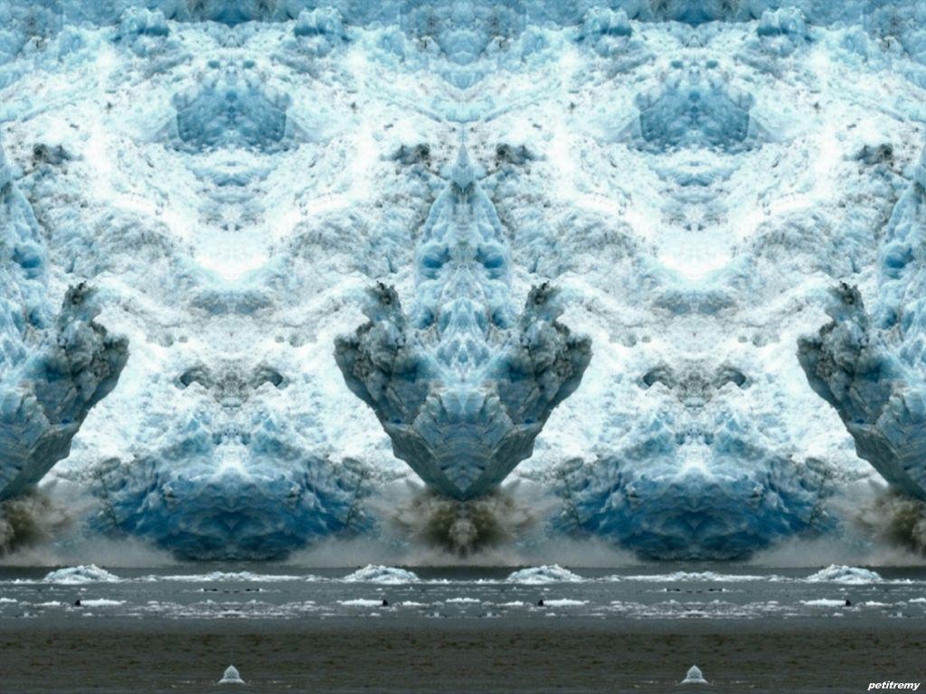 fond d ecran fantastique glacier double image. Black Bedroom Furniture Sets. Home Design Ideas